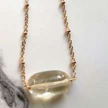 Citrine Sunbeam Necklace