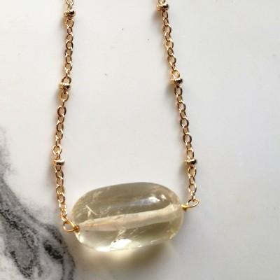 Citrine Sunbeam Necklace Image