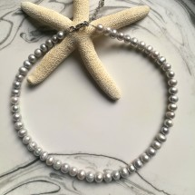 Silver Pearl  Necklace Image
