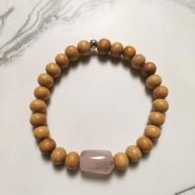 Amethyst & White Sandalwood Bracelet