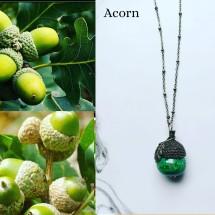 Acorn Glass Lampwork Pendant