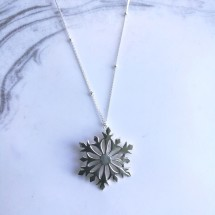 Snowflake Sterling Silver Necklace