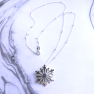 Snowflake Sterling Silver Necklace Image