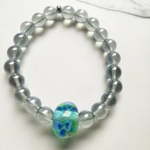 Violet Lampwork Bracelet