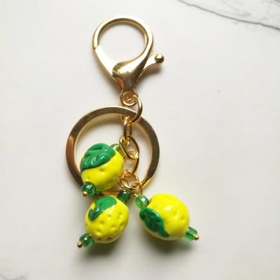 Lemon Lampwork Glass Bag Charm Image