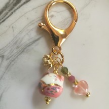 Lucky Cat Tourmaline Bag Charm
