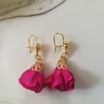 Fuchsia Flower Earrings