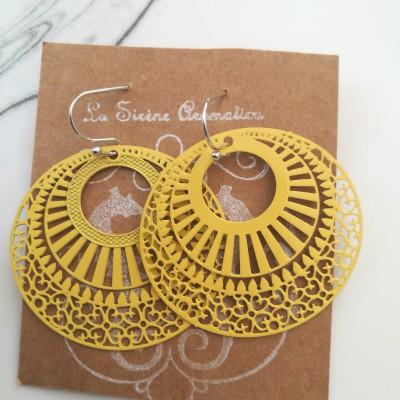 Yellow Hoop Earrings Image