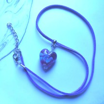 Amethyst Glass Lampwork Heart