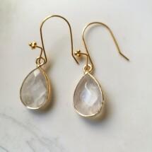 Crystal Rain. Clear Quartz Earrings