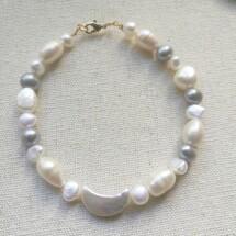 Baroque Moon Pearl Bracelet