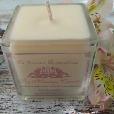 Mini Lavender and Vanilla Massage Candle Image