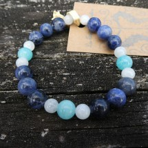 Amazonite, Sodalite, Moonstone Bracelet