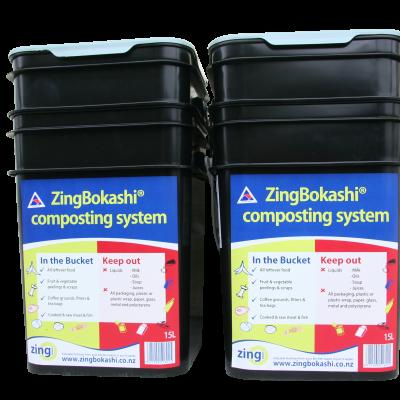 2 x15l ZingBokashi Composting kits -Value Pack Image