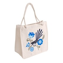 ECV-09-B Canvas Kiwiana Blue Fantail Bag