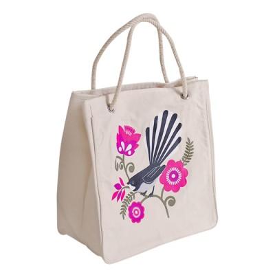 ECV-09 Canvas Kiwiana Pink Fantail Bag Image