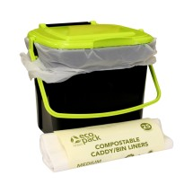 Kitchen Composter Caddy 7L with Liners (Pack of 25)