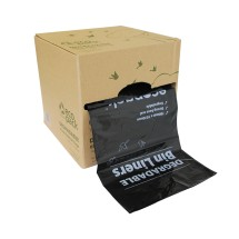 ED-5944 80L Degradable Bin Liners with Dispenser Box