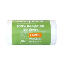 ED-9036 100% Recycled Bin Liner 36L