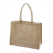 EJ-202 Jute Shopper Natural Bag