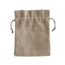 EJ-220 Jute Drawstring Bag With Beads