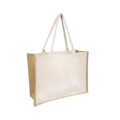 EJ-225 Jute Canvas Combination Tote Image