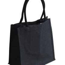 EJ-209 Jute Supermarket Shopper Bag Black