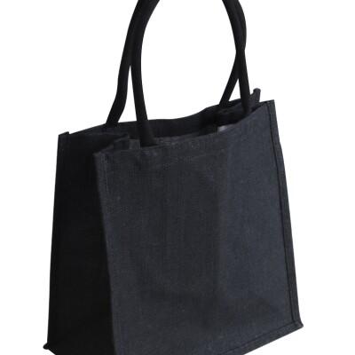 EJ-209 Jute Supermarket Shopper Bag Black Image