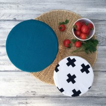 TURQUOISE & CROSSES DUO | Reusable Bowl Cover Set Image