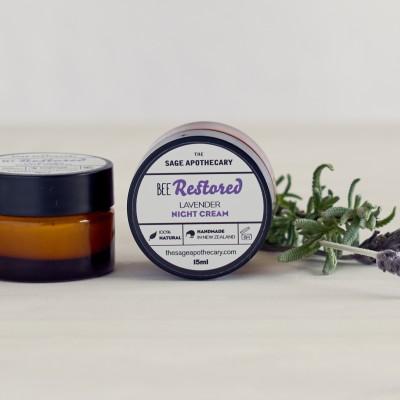 Bee Restored Mini Lavender Night Cream Image