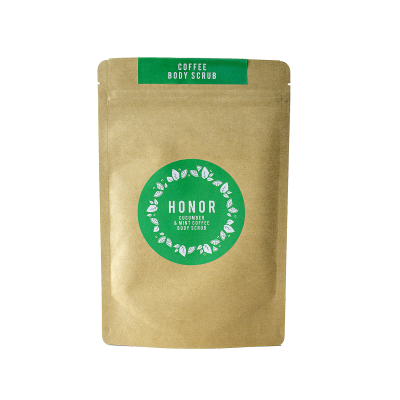 Cucumber and Mint Organic Coffee Body Scrub Image