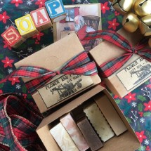 Giftbox - six assorted soaps - handmade, palm oil free