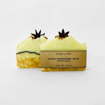 Orange, Frankincense + Myrrh Christmas Soap Bar