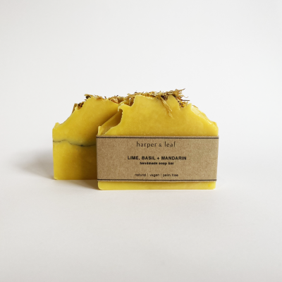 Lime, Basil + Mandarin Soap Bar Image