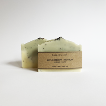 Mint + Rosemary Exfoliating Sea Clay Soap Bar Image