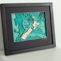 New Zealand map size small