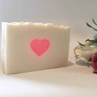 Pink Heart Handmade Shea soap Image