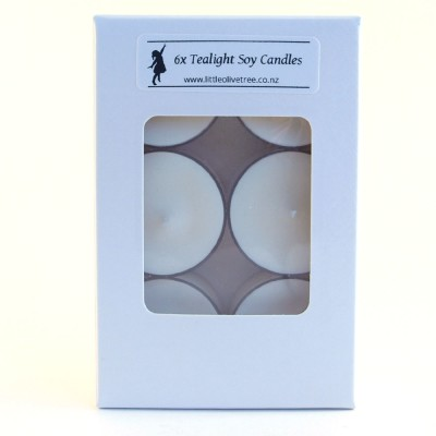 Tealight Soy Candles (6-pack), made in New Zealand Image