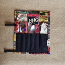 Zero Waste Cutlery Pouch Vintage