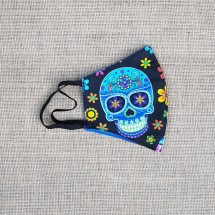 Face Mask Sugar Skull Neon