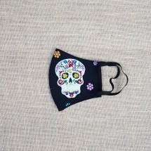 Face Mask Sugar Skull Floral