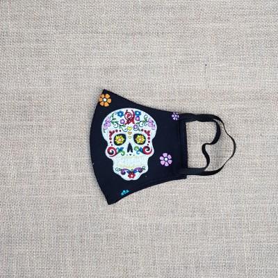 Face Mask Sugar Skull Floral Image