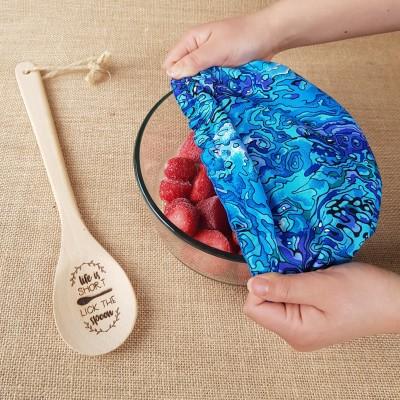 Zero Waste Reusable Bowl Cover Paua Image