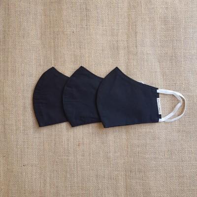 Face Mask Cotton All Black Set of 10 Image