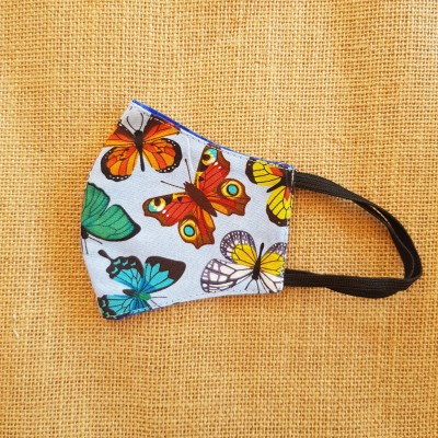 Face Mask Butterfly Blue Image