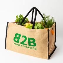 Jute supermarket trolley bag