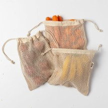 Cotton Mesh Produce Bags (set of 3 medium)