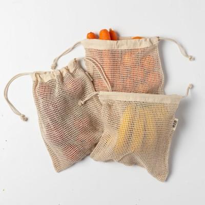 Cotton Mesh Produce Bags (set of 3 medium) Image