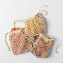 Cotton Mesh Produce Bags (set of 3 small)