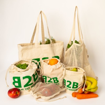 Zero Waste Shopping Bags Combo 6 Piece Set Image